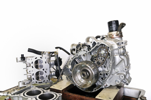 バイクエンジンの整備の写真素材 [FYI00389881]