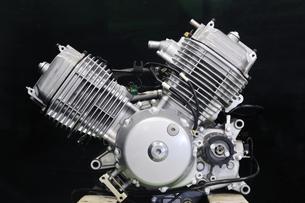 バイクのエンジンの写真素材 [FYI00390000]