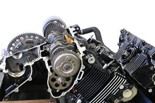 バイクエンジンの整備の写真素材 [FYI00390825]