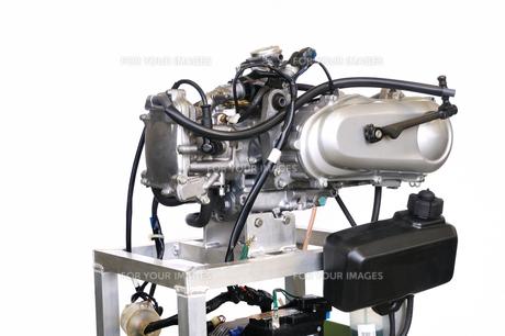 バイクエンジンのテストの写真素材 [FYI00391380]