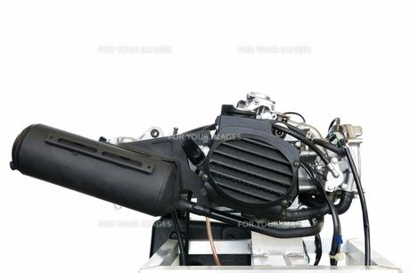 バイクエンジンのテストの写真素材 [FYI00391396]