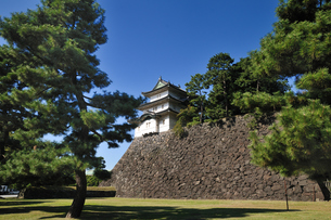 皇居の富士見櫓の写真素材 [FYI00391538]
