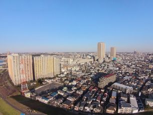 市川市の上空の写真素材 [FYI00391868]
