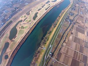流山上空の江戸川の写真素材 [FYI00391873]