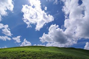 夏雲と丘の写真素材 [FYI00391961]