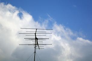アナログテレビのアンテナの写真素材 [FYI00391983]