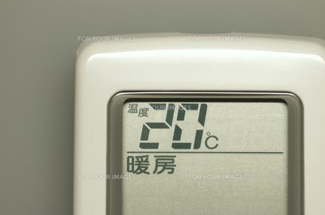 エアコンのリモコン(暖房)の素材 [FYI00392082]