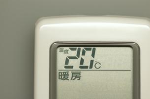 エアコンのリモコン(暖房)の写真素材 [FYI00392082]