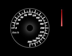 スピードメーター(針合成用)の写真素材 [FYI00392091]