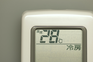 エアコンのリモコン(冷房)の写真素材 [FYI00392095]