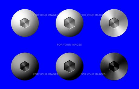 六角ネジ(合成用素材)の写真素材 [FYI00392112]