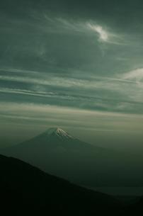 夕暮れの富士山の素材 [FYI00392158]