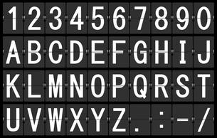 反転フラップ式案内表示機(文字素材)の写真素材 [FYI00392189]