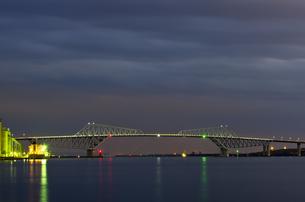 開通前夜の東京ゲートブリッジの写真素材 [FYI00392202]