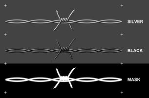 有刺鉄線の写真素材 [FYI00392211]