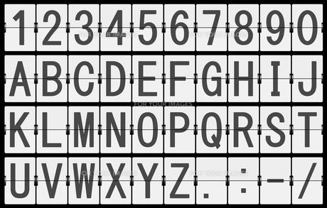 反転フラップ式案内表示機(文字素材)の素材 [FYI00392213]