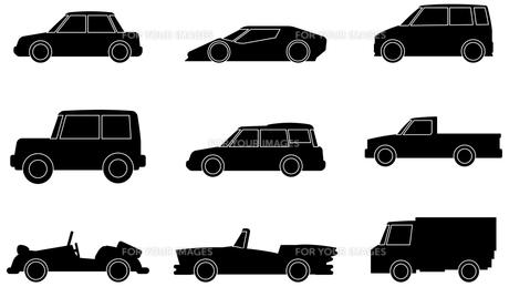 自動車シルエットの写真素材 [FYI00392306]