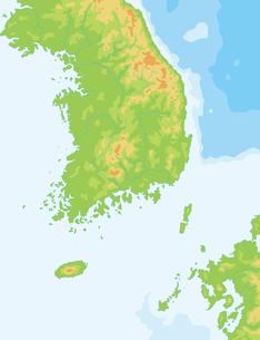 韓国地図の写真素材 [FYI00392307]