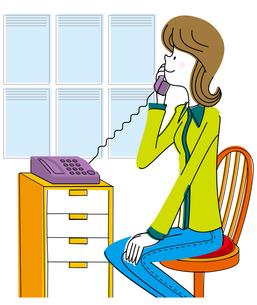 電話する若い女性の写真素材 [FYI00392369]