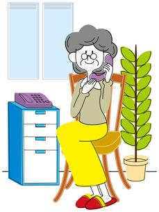 電話する熟年女性の写真素材 [FYI00392372]