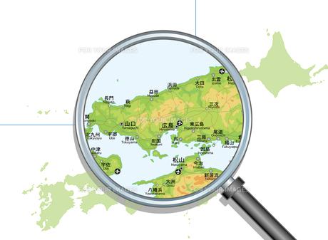 日本地図中国地方拡大判の写真素材 [FYI00392385]