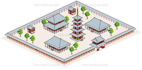 寺の敷地の素材 [FYI00392444]