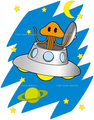 宇宙人とUFOの写真素材 [FYI00392566]