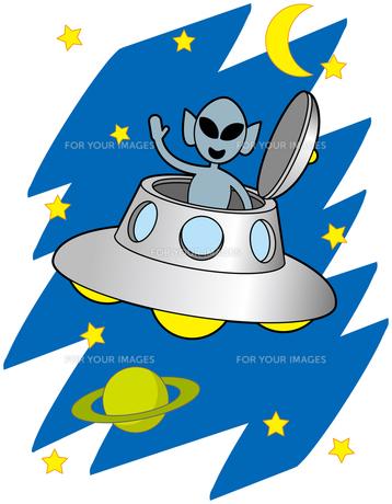 UFOと宇宙人の写真素材 [FYI00392573]