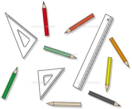 鉛筆と定規の写真素材 [FYI00392601]