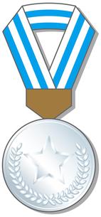 銀メダルの写真素材 [FYI00392702]