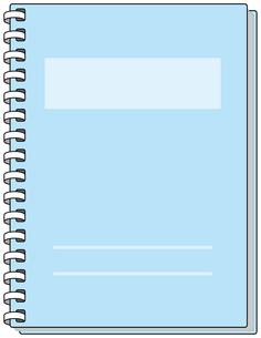 青いノートの素材 [FYI00392704]