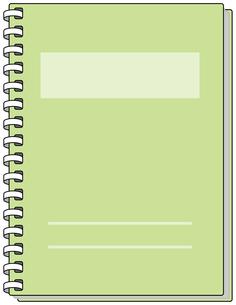 グリーンのノートの素材 [FYI00392708]
