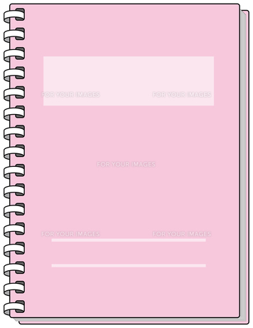 ピンクのノートの素材 [FYI00392712]