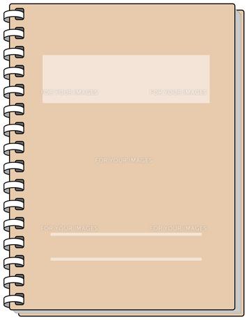 茶色いノートの素材 [FYI00392728]