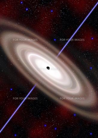 ブラックホール想像図の素材 [FYI00393373]
