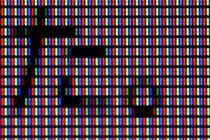 液晶ディスプレイの「た。」…過去形の写真素材 [FYI00394546]