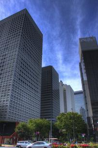 西新宿2丁目より高層ビル群(HDR処理)の写真素材 [FYI00395809]