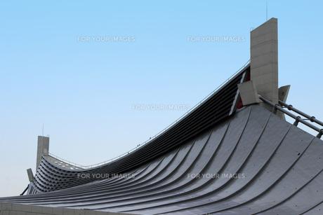 国立代々木競技場・第一体育館の屋根の写真素材 [FYI00396317]