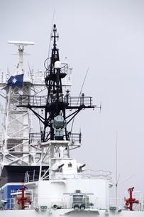 海上保安庁の巡視船の船尾よりの写真素材 [FYI00396384]
