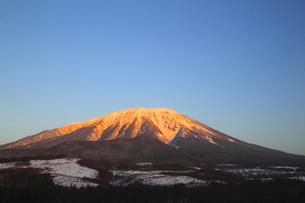 朝焼けの冬の岩手山の写真素材 [FYI00399269]