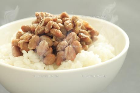 納豆ご飯の写真素材 [FYI00399668]