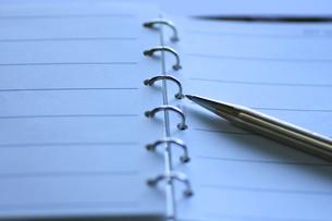システム手帳とペンの写真素材 [FYI00399826]