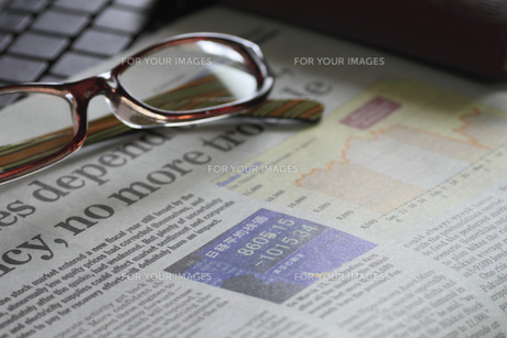 経済新聞の写真素材 [FYI00399922]