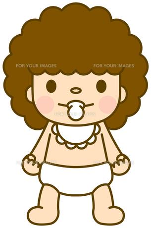 赤ちゃん スタイ 立ちの写真素材 [FYI00400778]
