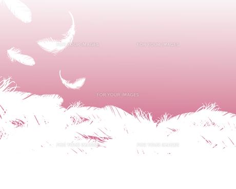 羽根 背景の素材 [FYI00403980]