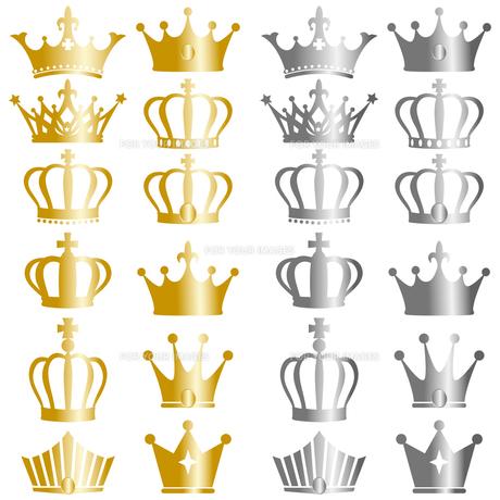 王冠 セットの写真素材 [FYI00403981]