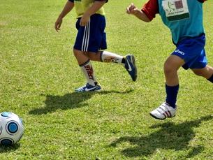 サッカーをする子供たちの写真素材 [FYI00404265]