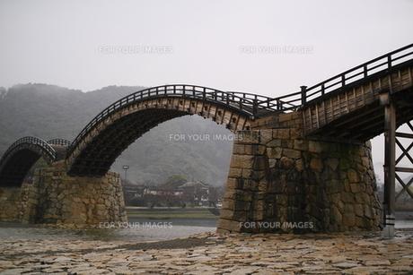 雨の錦帯橋の素材 [FYI00404784]