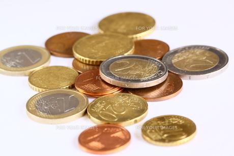 ユーロ硬貨の写真素材 [FYI00404797]