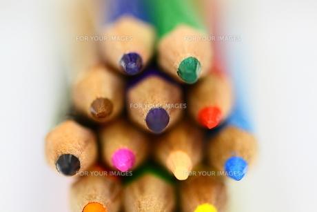 カラフル色鉛筆の先端部の素材 [FYI00404839]